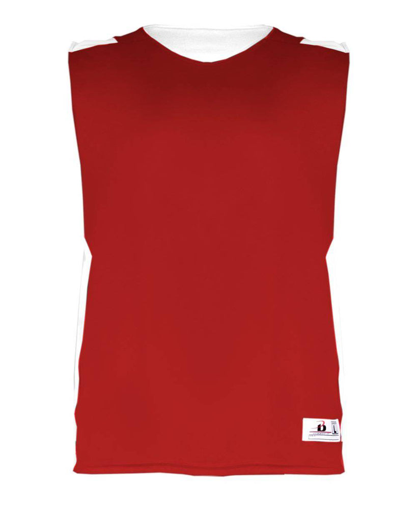 Badger 8949 Ladies B Power Reversible Tank - Red White - HIT A Double