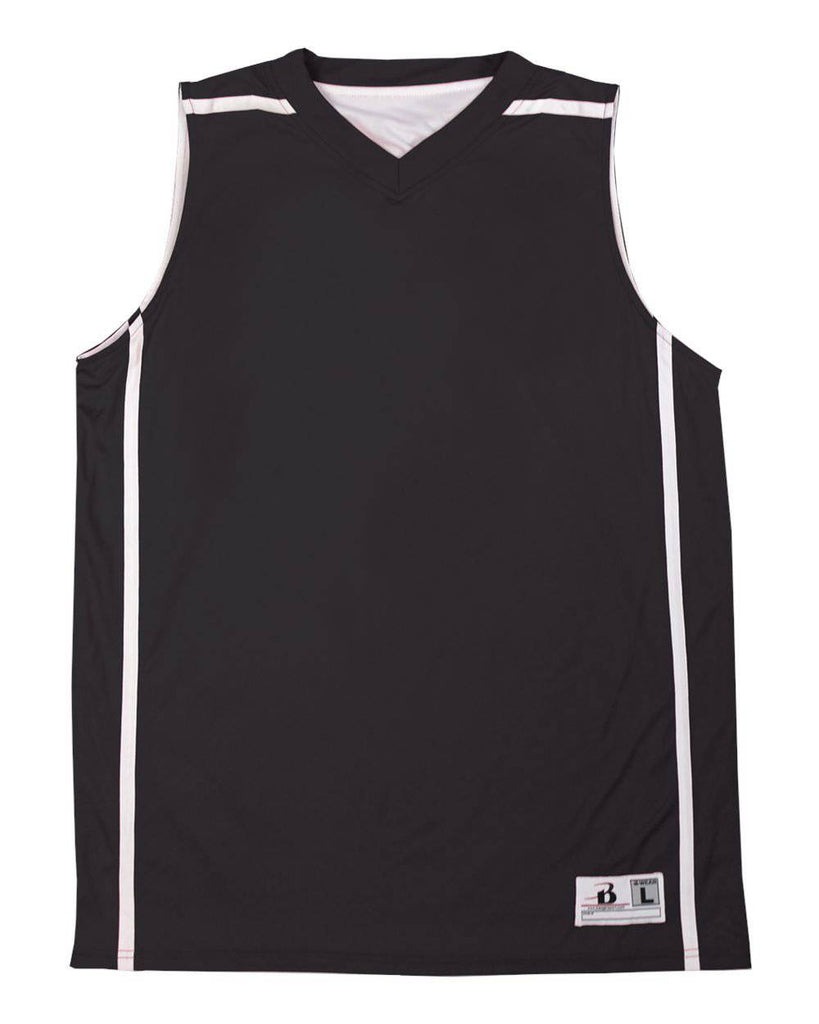 Badger 8952 B-Line Reversible Ladies Jersey - Black White - HIT A Double