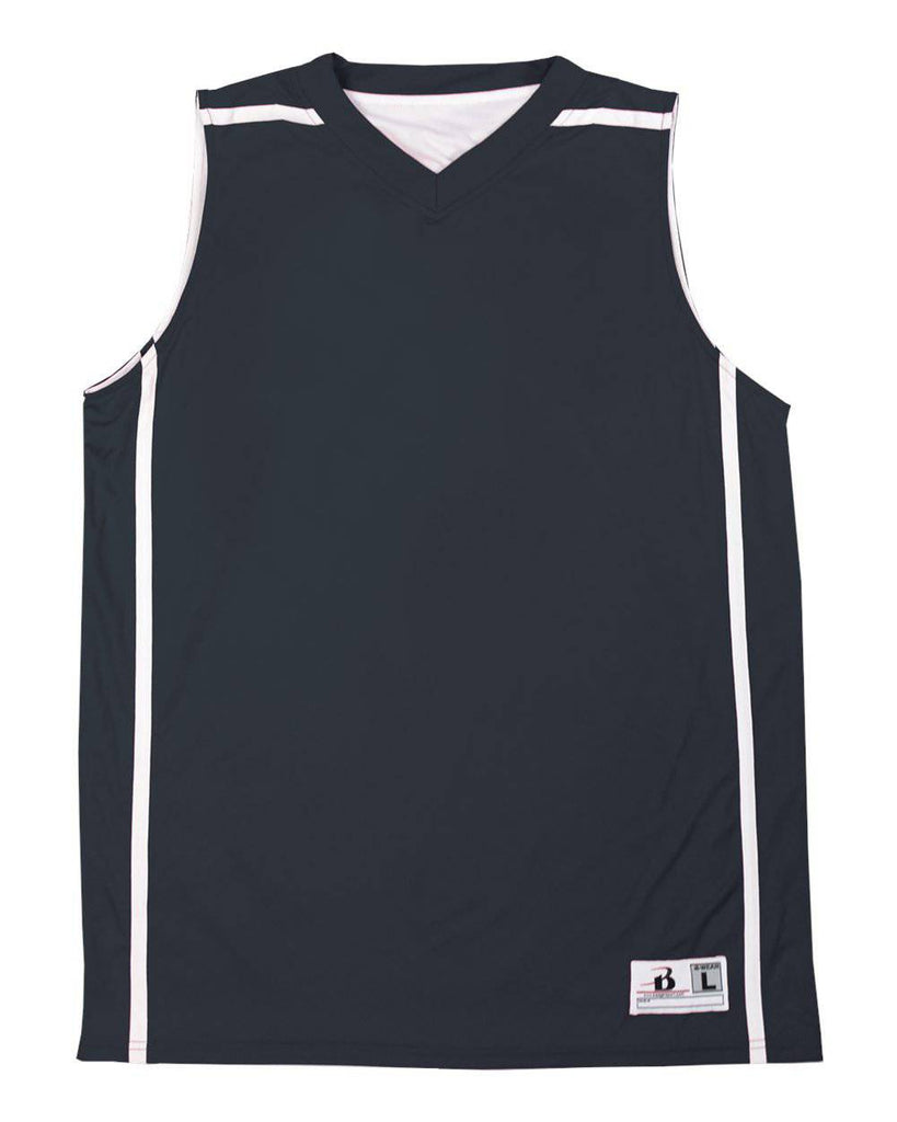Badger 8952 B-Line Reversible Ladies Jersey - Navy White - HIT A Double
