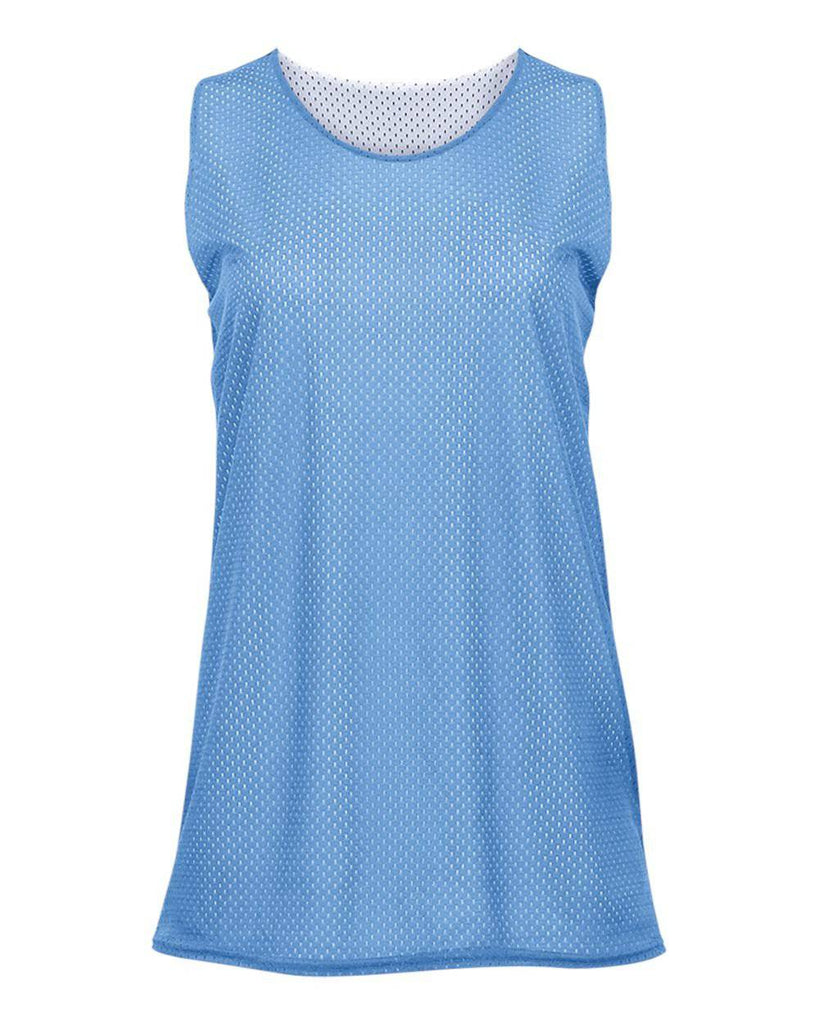 Badger 8978 Ladies Reversible Tank - Columbia Blue White - HIT A Double
