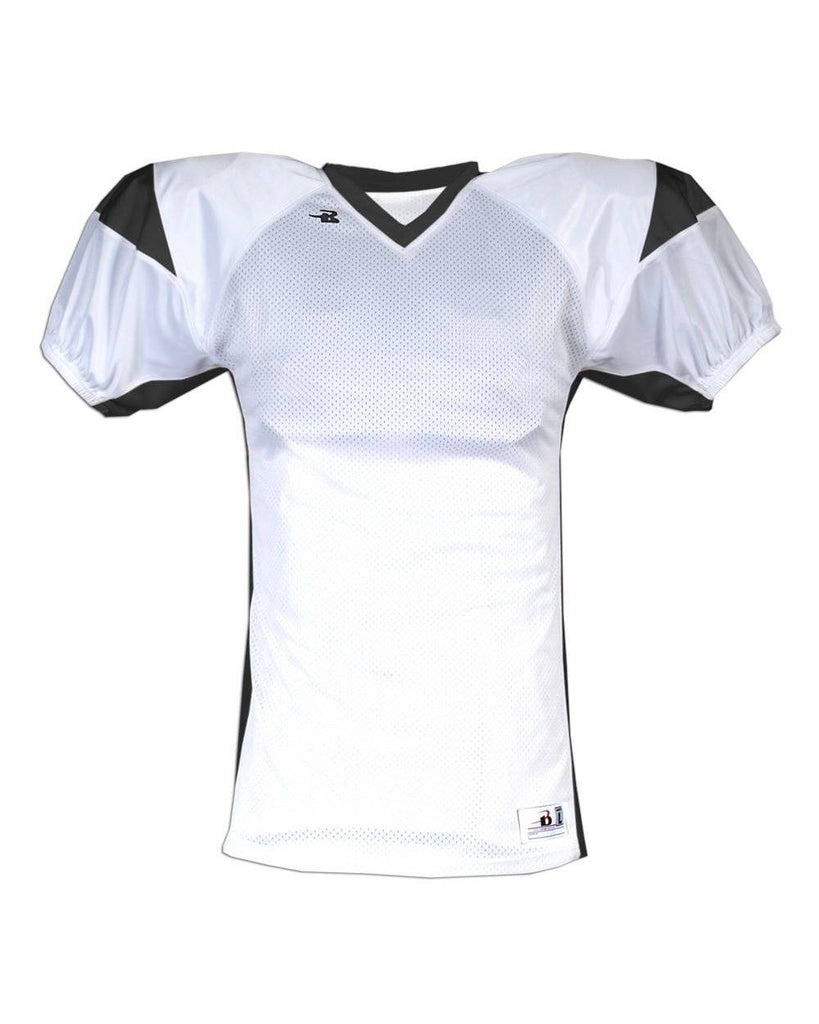Badger 9481 B-Dry West Coast Jersey - White Black - HIT A Double