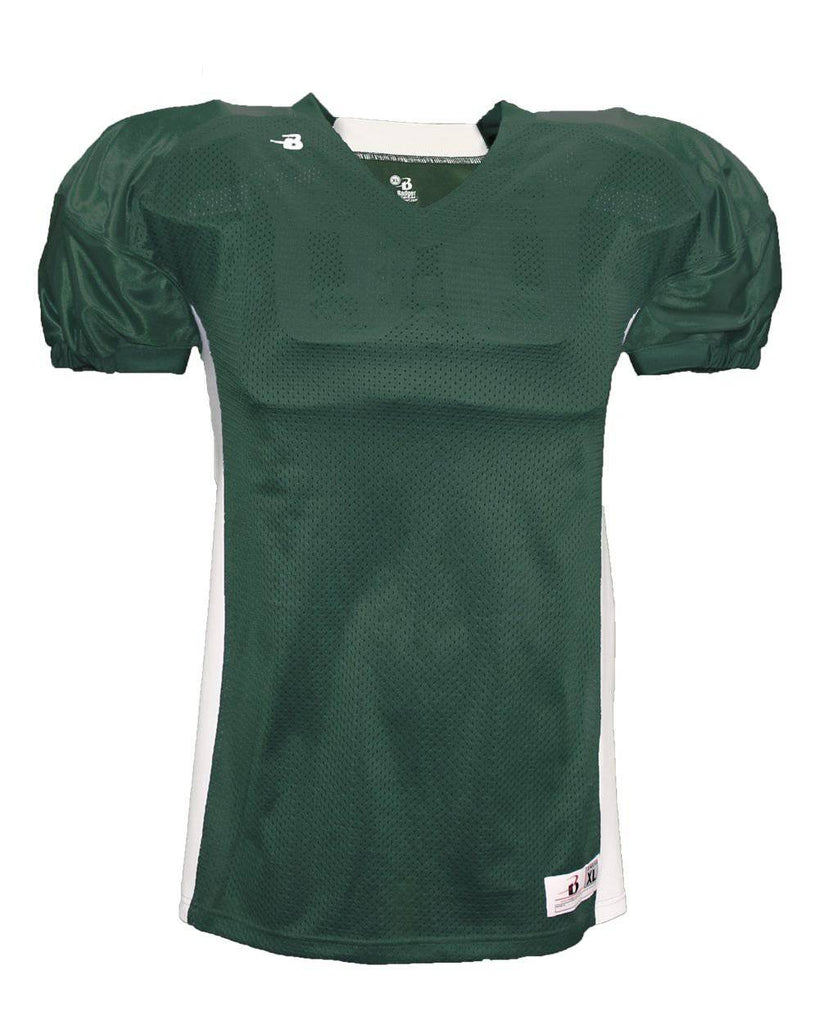 Badger 9488 East Coast Football Jersey - Forest White - HIT A Double