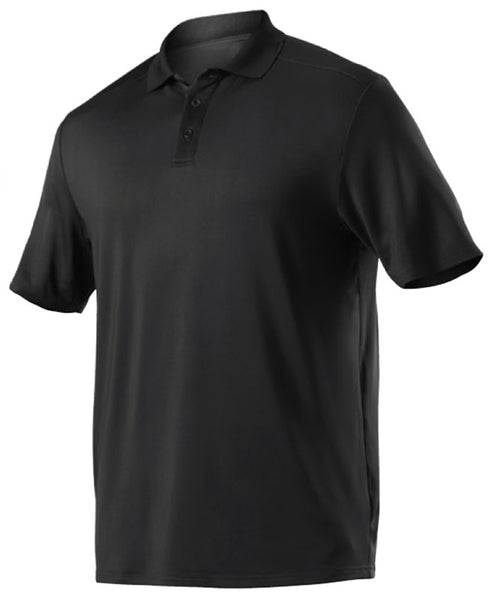 Alleson GPL5 Adult Gameday Polo - Black - Band, Bowling, Fanwear, Golf - Hit A Double