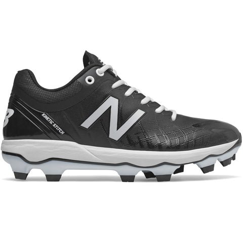 New Balance PL4040v5 Molded Cleats Low-Cut - Black White - HIT A Double