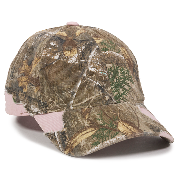 OC Sports BSH-600 Adjustable Ladies Fit Cap - Realtree Edge  Pink - HIT A Double