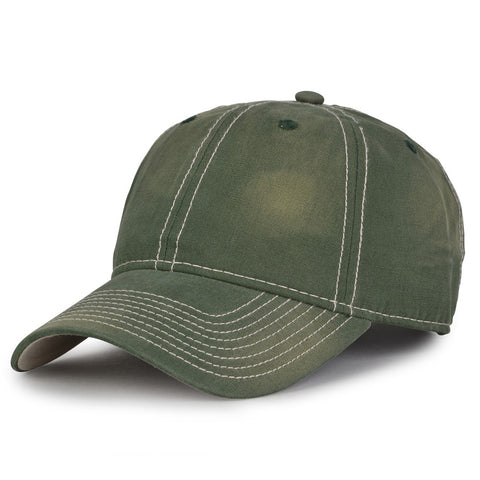 The Game GB439 Enzyme Washed Canvas Cap - Dark Green