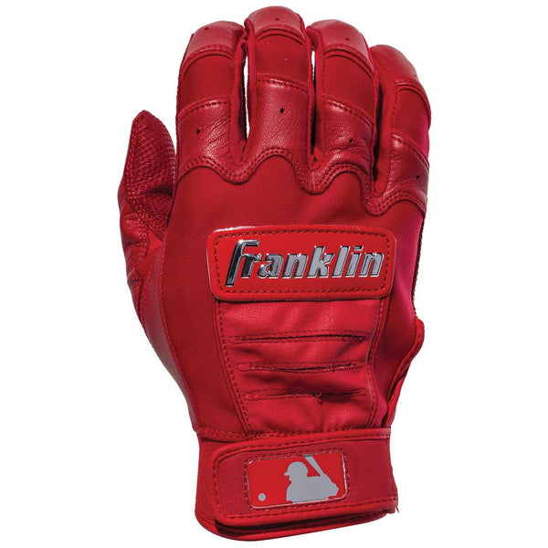 Franklin CFX Pro Chrome Youth Batting Gloves - Red