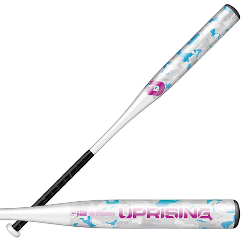 DeMarini 2019 Uprising (-12) Fastpitch Bat - Black White - HIT A Double