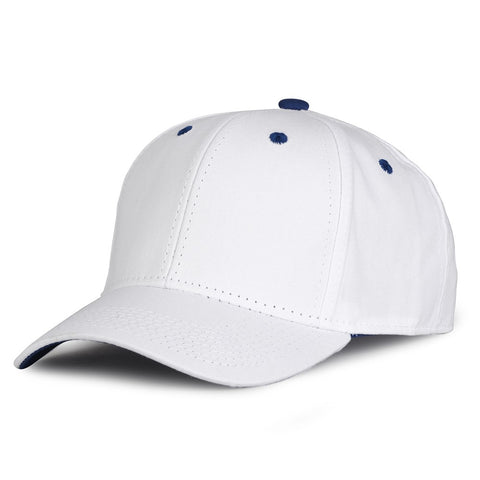 The Game GB2016 White Snapback Cotton Twill Cap - White Royal - HIT A Double