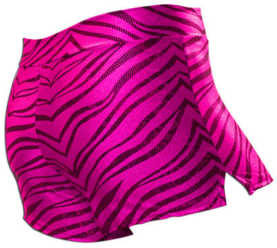 Pizzazz Pizzazzleaders/Dance Zebra Glitter Shorts - Hot Pink