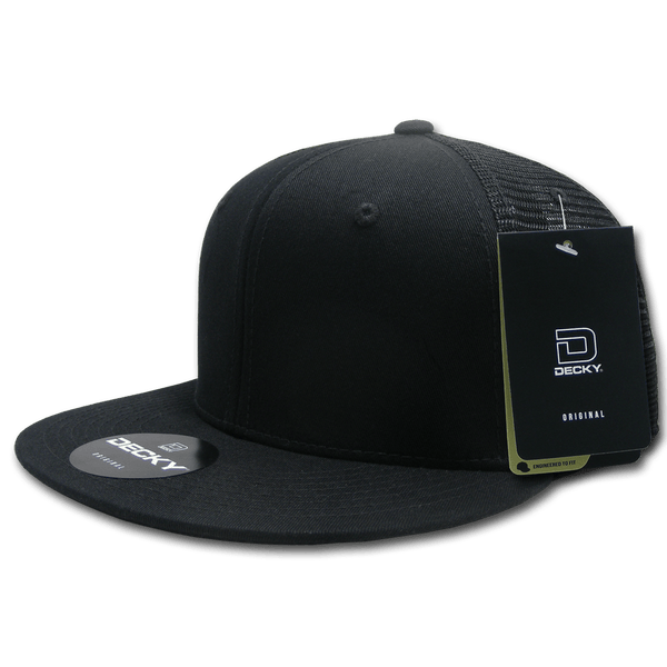 Decky 1075 Fitted Cotton Trucker Cap - Black - HIT A Double