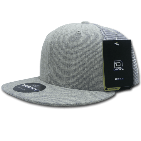 Decky 1075 Fitted Cotton Trucker Cap - Heather Gray - HIT A Double