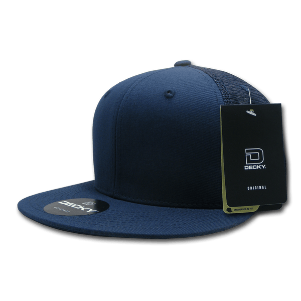 Decky 1075 Fitted Cotton Trucker Cap - Navy - HIT A Double
