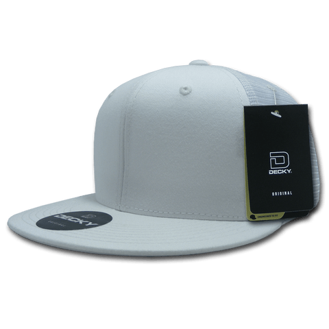 Decky 1075 Fitted Cotton Trucker Cap - White - HIT A Double