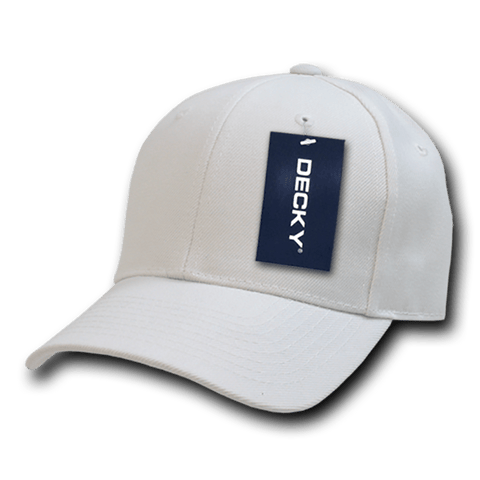 Decky 402 Fitted Cap - White - HIT A Double