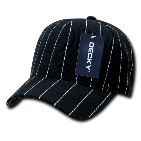 Decky 403 Pin Striped Fitted Cap - Black - HIT A Double