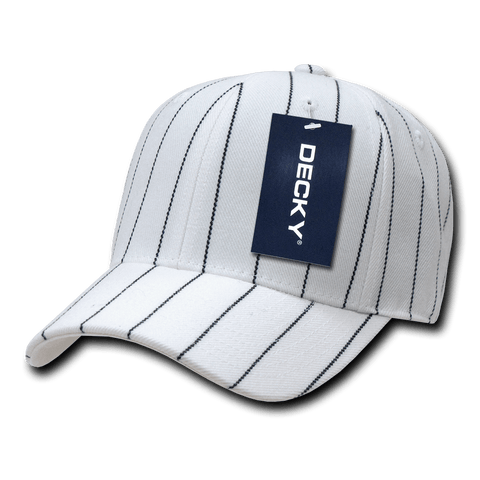Decky 403 Pin Striped Fitted Cap - White - HIT A Double