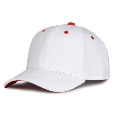 The Game GB2016 White Snapback Cotton Twill Cap - White Red - HIT A Double