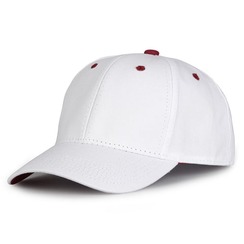 The Game GB2016 White Snapback Cotton Twill Cap - White Cardinal - HIT A Double