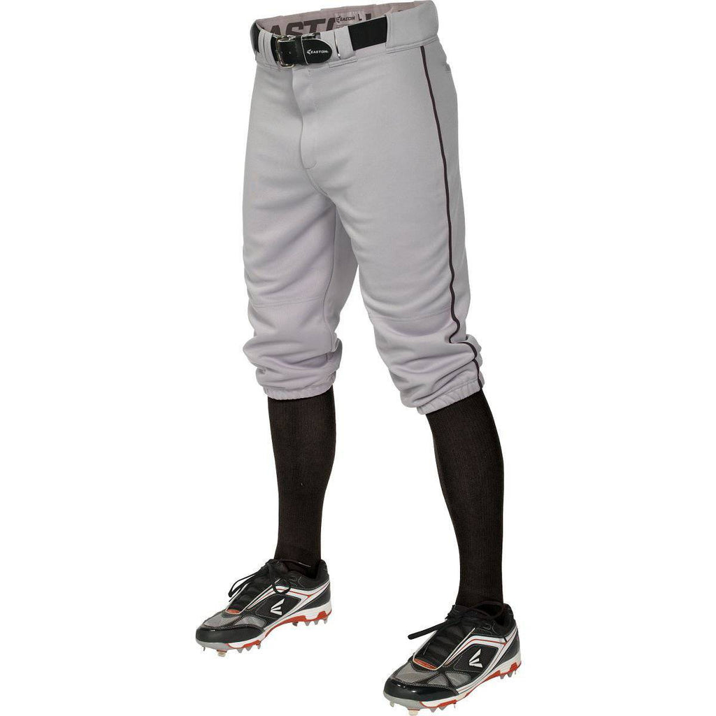 Easton  Pro+ Piped Knicker Baseball Pant - Gray Black - HIT A Double