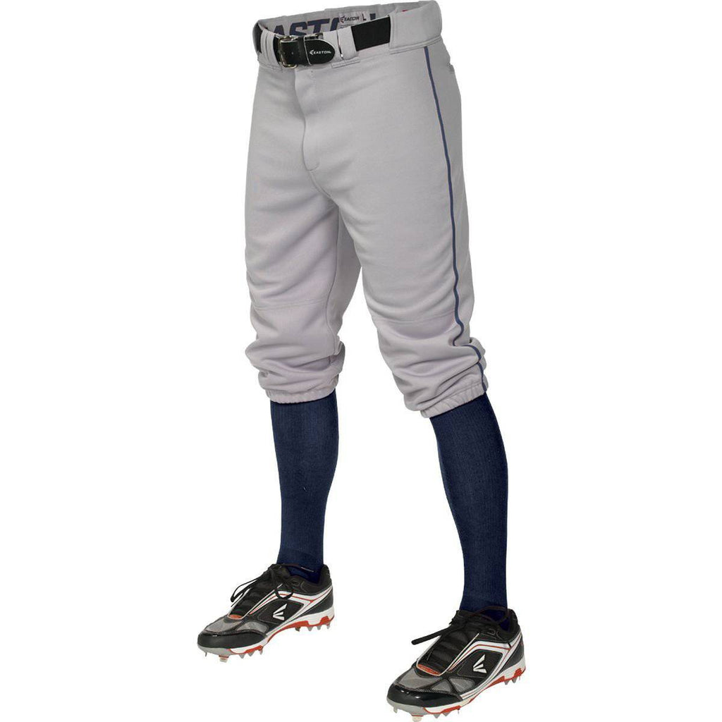 Easton  Pro+ Piped Knicker Baseball Pant - Gray Navy - HIT A Double