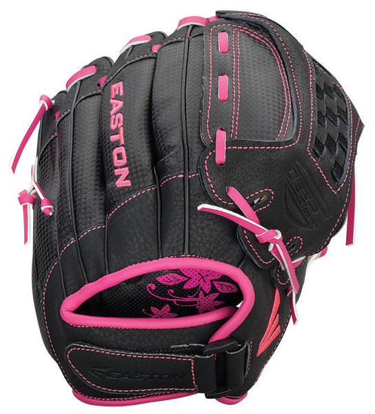 "Easton Z-Flex ZFXFP 1100BKPK 11.00"" Utility Fastpitch Glove - Black Pink - Softball Gloves - Hit A Double - 1"