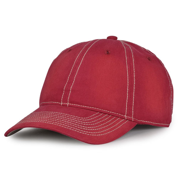 The Game GB439 Enzyme Washed Canvas Cap - Cardinal
