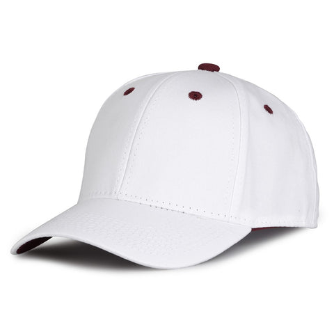 The Game GB2016 White Snapback Cotton Twill Cap - White Maroon - HIT A Double
