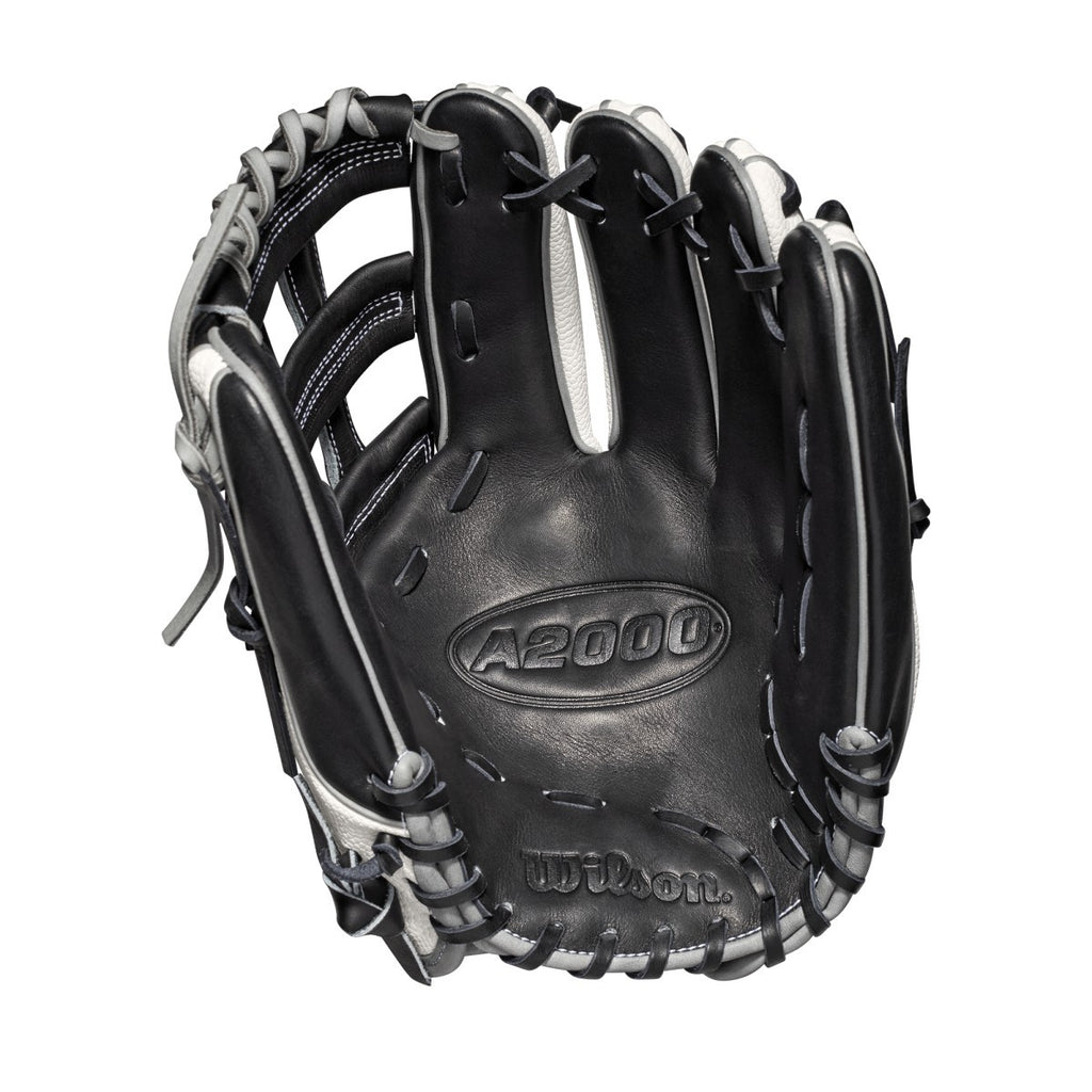 "Wilson 2019 A2000 F12 Superskin 12.00"" FP Infield Glove WTA20RB19FP12SS - White Black - Hit A Double - 2"