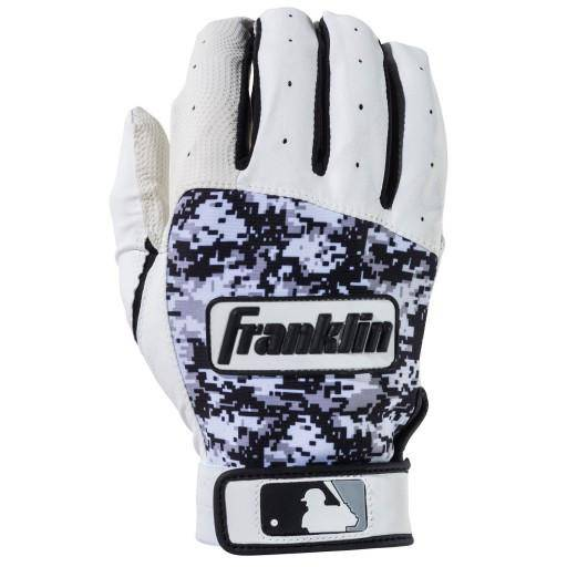 Franklin Digitek Batting Gloves - White Black Camo - HIT A Double