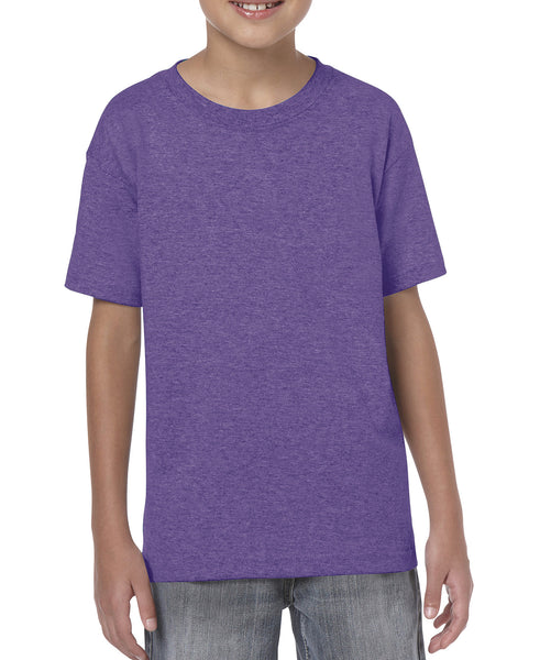 Gildan 64500B Youth Softstyle T-Shirt - Heather Purple