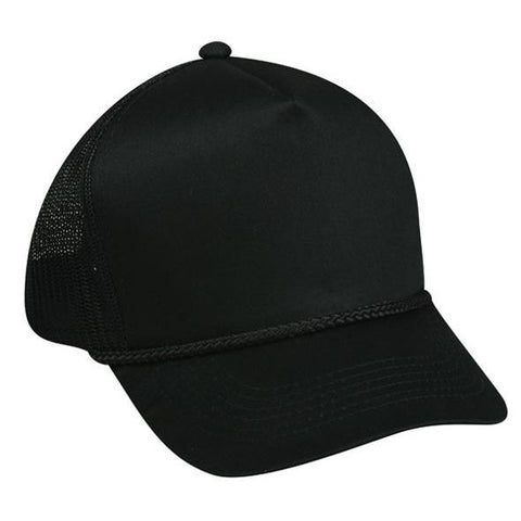 OC Sports GL-155 Adjustable Mesh Back Cap - Black