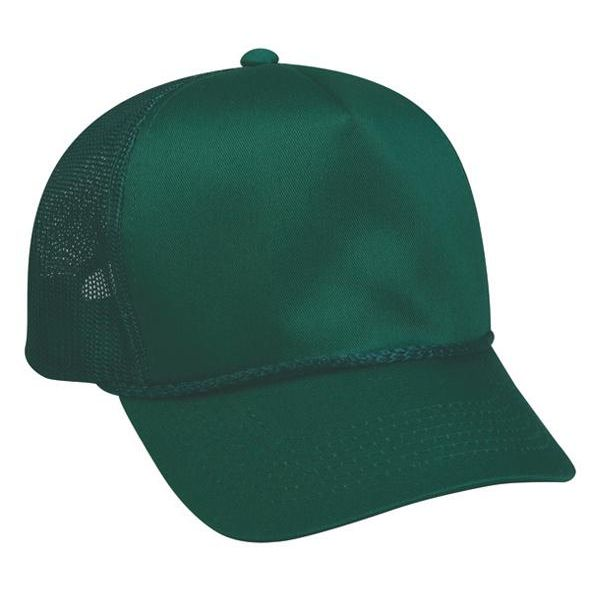 OC Sports GL-155 Adjustable Mesh Back Cap - Dark Green