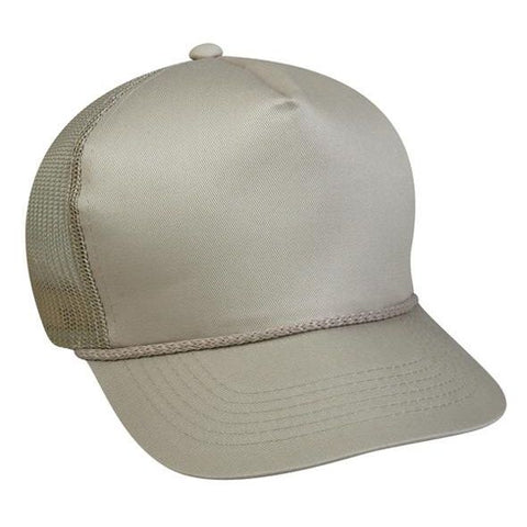 OC Sports GL-155 Adjustable Mesh Back Cap - Tan