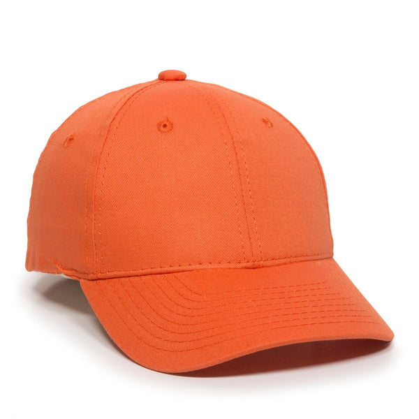 OC Sports GL-271 Team Adjustable Custom Baseball Caps - Orange