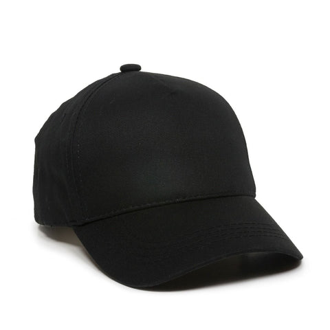 OC Sports GL-455 Team Adjustable Single Snap Closure Cap - Black