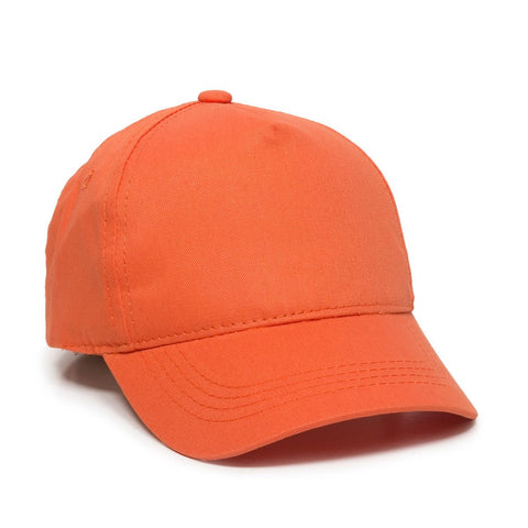 OC Sports GL-455 Team Adjustable Single Snap Closure Cap - Orange