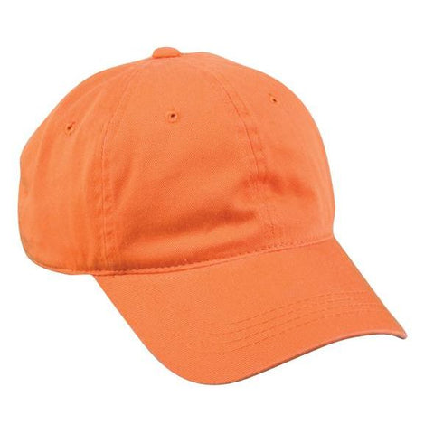 OC Sports GWT-111 Adjustable Strap Garment Wash Cotton Cap - Orange