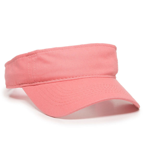 OC Sports GWTV-100  Adjustable Garment Washed Twill Visors - Melon