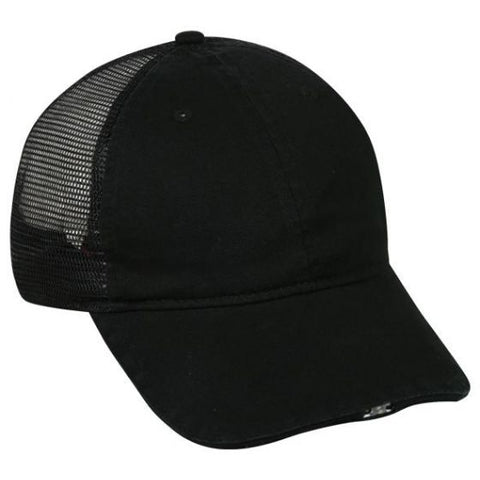 OC Sports HIB-836 Adjustable Mesh Back Cap - Black - HIT A Double
