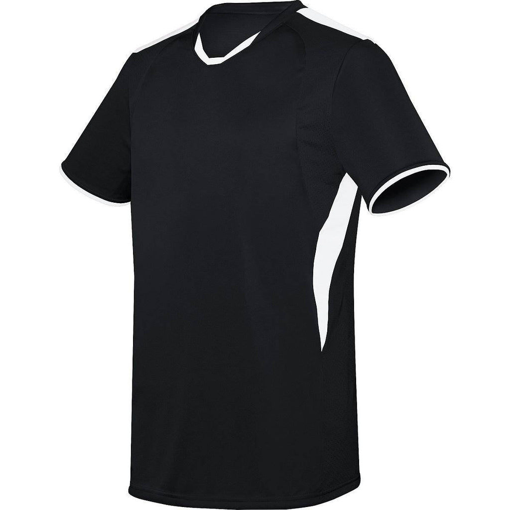 High Five 322890 Adult Globe Jersey - Black White - HIT A Double