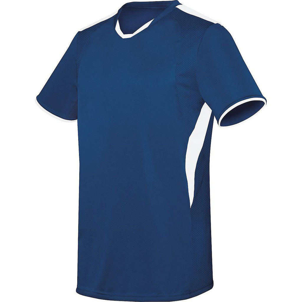 High Five 322890 Adult Globe Jersey - Navy White - HIT A Double