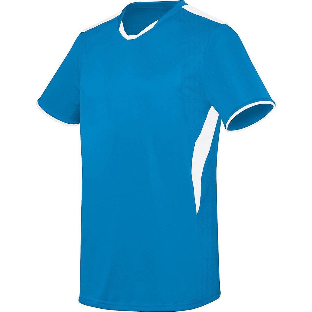 High Five 322890 Adult Globe Jersey - Power Blue White - HIT A Double