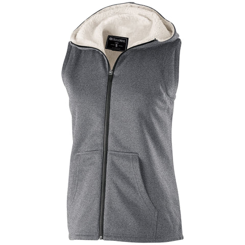 Holloway 229391 Ladies' Artillery Sherpa Vest - Athletic Heather
