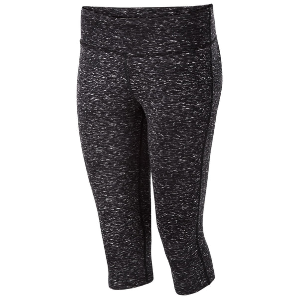 Holloway 229398 Ladies Banner Capri - Black Space Dye - Training/Running,Fanwear - Hit A Double