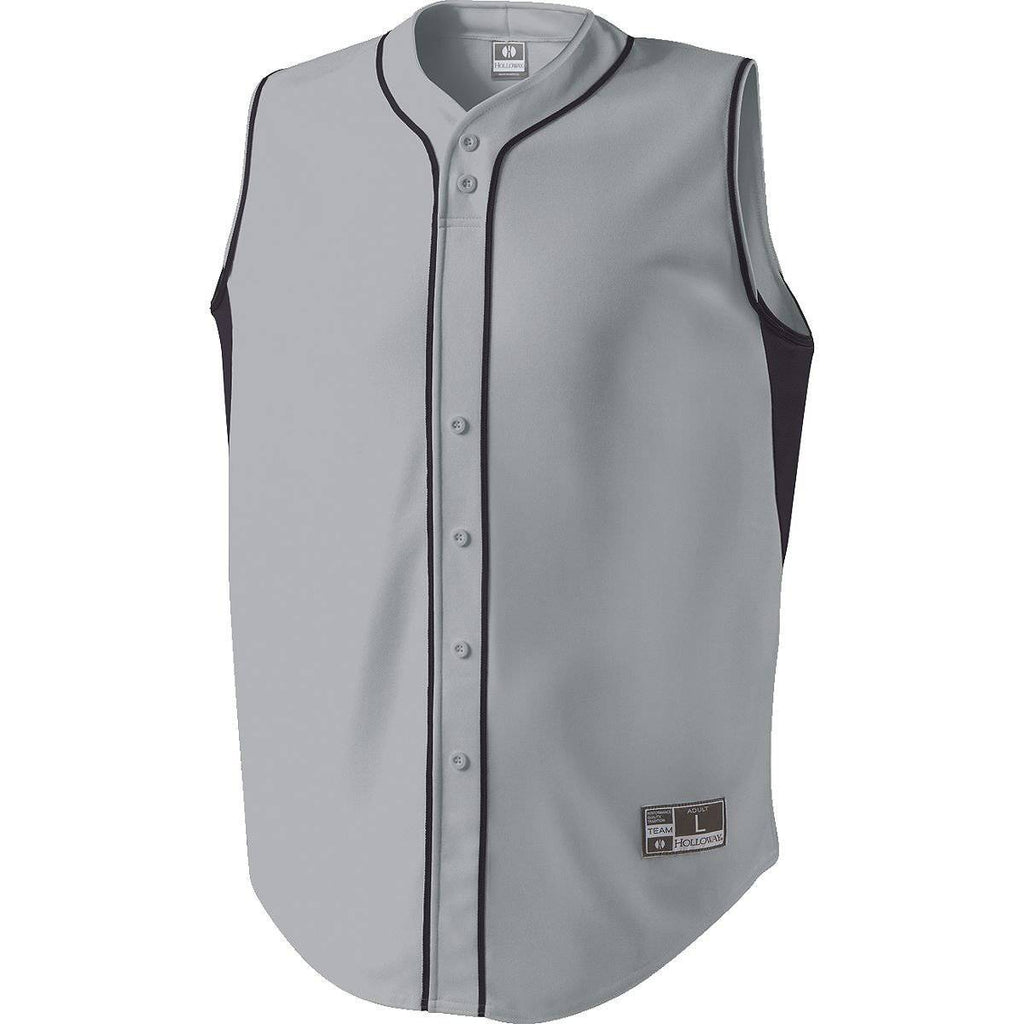 Holloway 221012 Fierce Jersey - Blue Gray Navy - HIT A Double