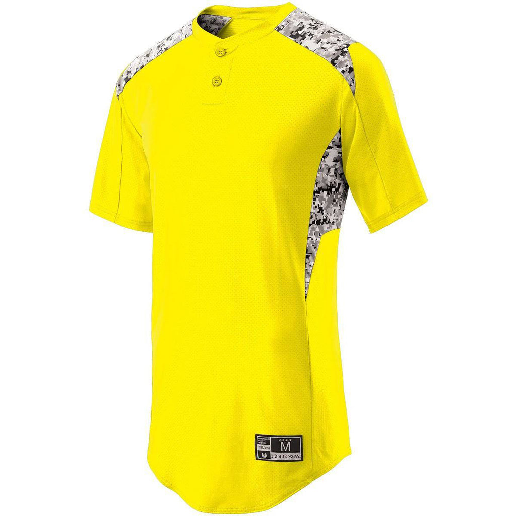 Holloway 221217 Youth Bullpen Jersey - Bright Yellow White Print - HIT A Double