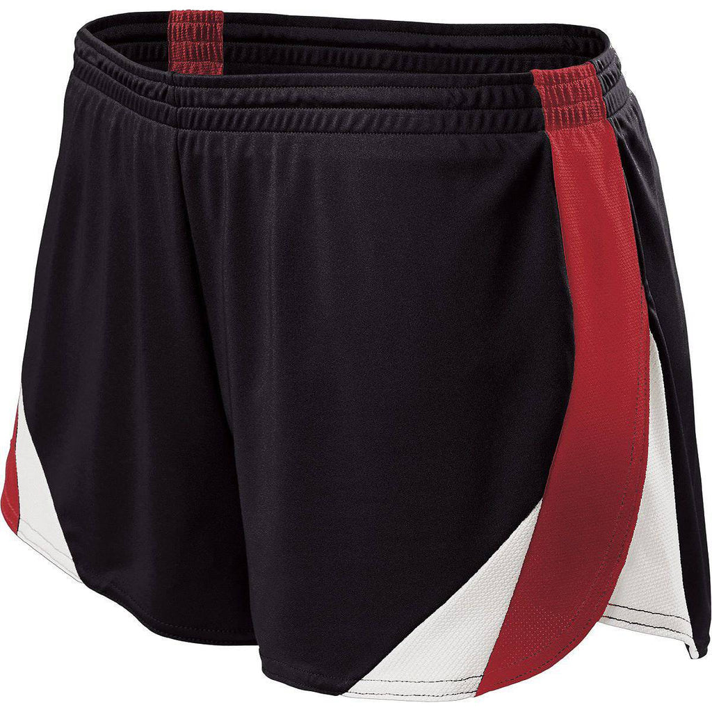 Holloway 221341 Ladies Approach Short - Black Scarlet White - HIT A Double
