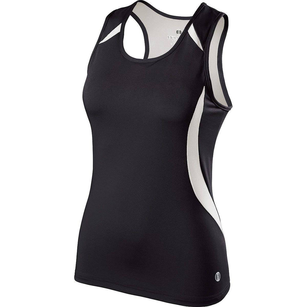 Holloway 221342 Ladies Sprinter Singlet - Black White - HIT A Double