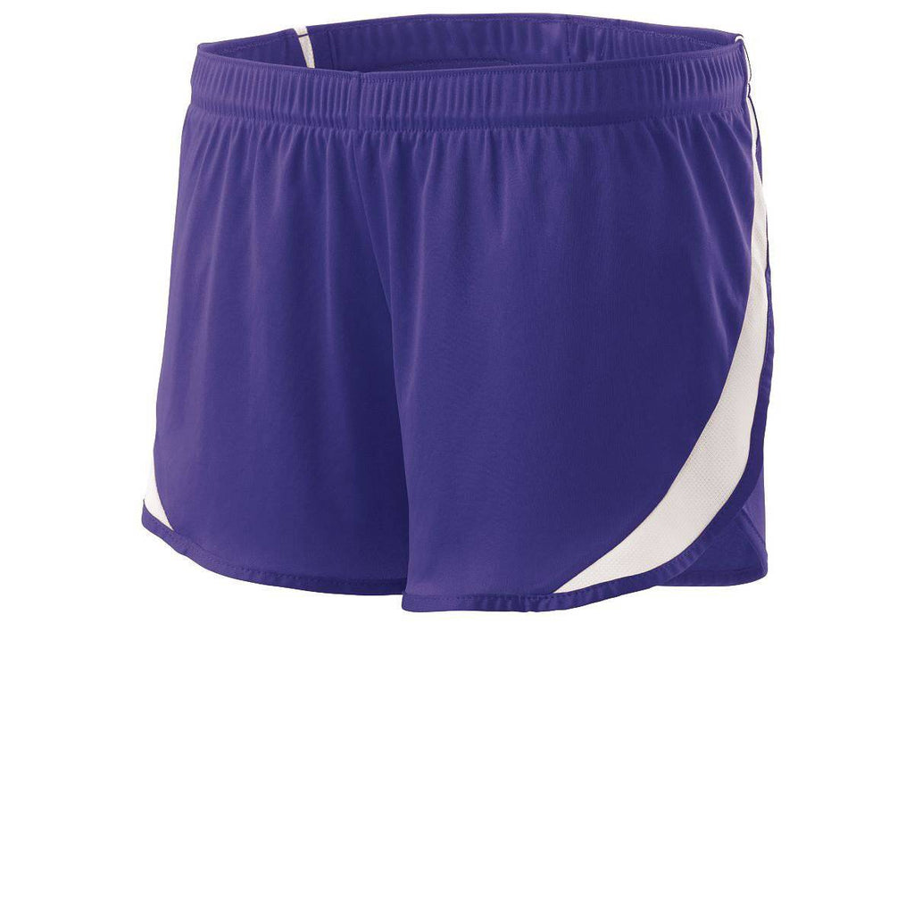 Holloway 221347 Ladies Lead Short - Purple White - HIT A Double